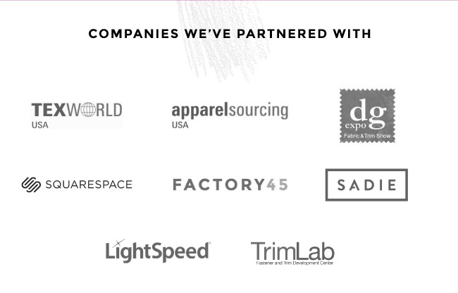 TexWorld Apparelsourcing, DG Expo, Squarespace, Factory45